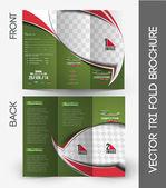 Football Competition Brochure — Vector de stock