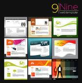 Web Site Template Design — Stock Vector
