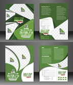 Golf Tournament Flyer — Vetorial Stock