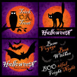 Halloween designs set (vector) — Vector de stock