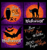 Halloween designs set (vector) — Stock Vector