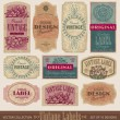 Vintage labels set (vector) — Stockvectorbeeld