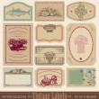 Ornate vintage labels set of 10 (vector) — Stock Vector