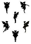 Fairy silhouettes — Stock Vector