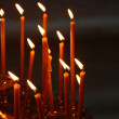 Burning candles in Christian church — Stock Photo #2703704