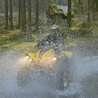 Travel through the mountains on ATVs — Stok fotoğraf