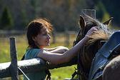 Karpat at çiftliği — Stok fotoğraf