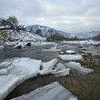 The mountain river in winter — Stock Photo