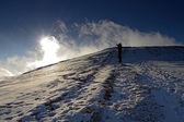 Día es en las montañas — Foto de Stock