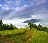 Travel along mountain ridges — Foto Stock
