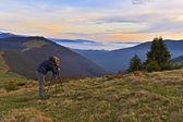 Woman on the Carpathian — Stock Photo