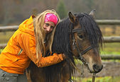 Horseback riding in the mountains — Stock Photo