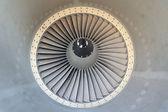 Jet engine of airplane — Stock Photo