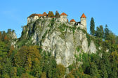 Old medieval castle Bled, Slovenia — Stock Photo