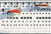 Lifeboats on moder cruise ship — Stock Photo