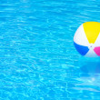 Inflatable ball in swimming pool — Stock Photo