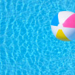 Royalty-Free Stock Photo: Inflatable ball in swimming pool