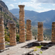 Temple of Apollo, ancient archaeological site of Delphi — Foto Stock