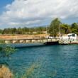 Corinth Canal submersible bridge — Stock Photo #36622801
