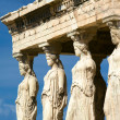 Caryatid sculptures, Acropolis of Athens, Greece — ストック写真