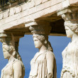 Caryatid sculptures, Acropolis of Athens, Greece — Stock Photo