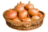 Still life with onions — Stock Photo