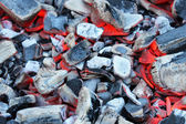 Hot coals — Stock Photo