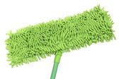 Green microfiber mop — Stock Photo