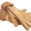 Suede gloves — Stock Photo