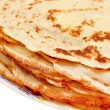 Stockfoto: Stack of pancakes on plate