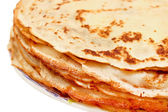 Stack of pancakes on a plate — Stock Photo