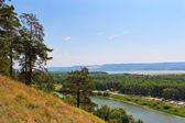 View of the Volga and Zhiguli Mountains — Stock Photo