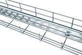 Metal cable tray — Stock Photo