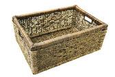 Decorative wicker box — Stock Photo