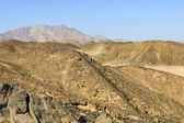 The mountains in the desert of North Africa — Stock Photo