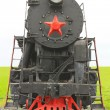Old soviet locomotive — Stock Photo