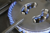 Gas burners — Stock Photo