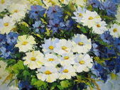 Målade blommor — Stockfoto