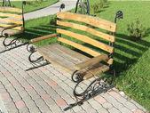 Dřevěná lavička — Stock fotografie