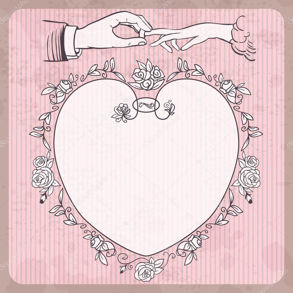 婚礼背景 — 图库矢量图像08
