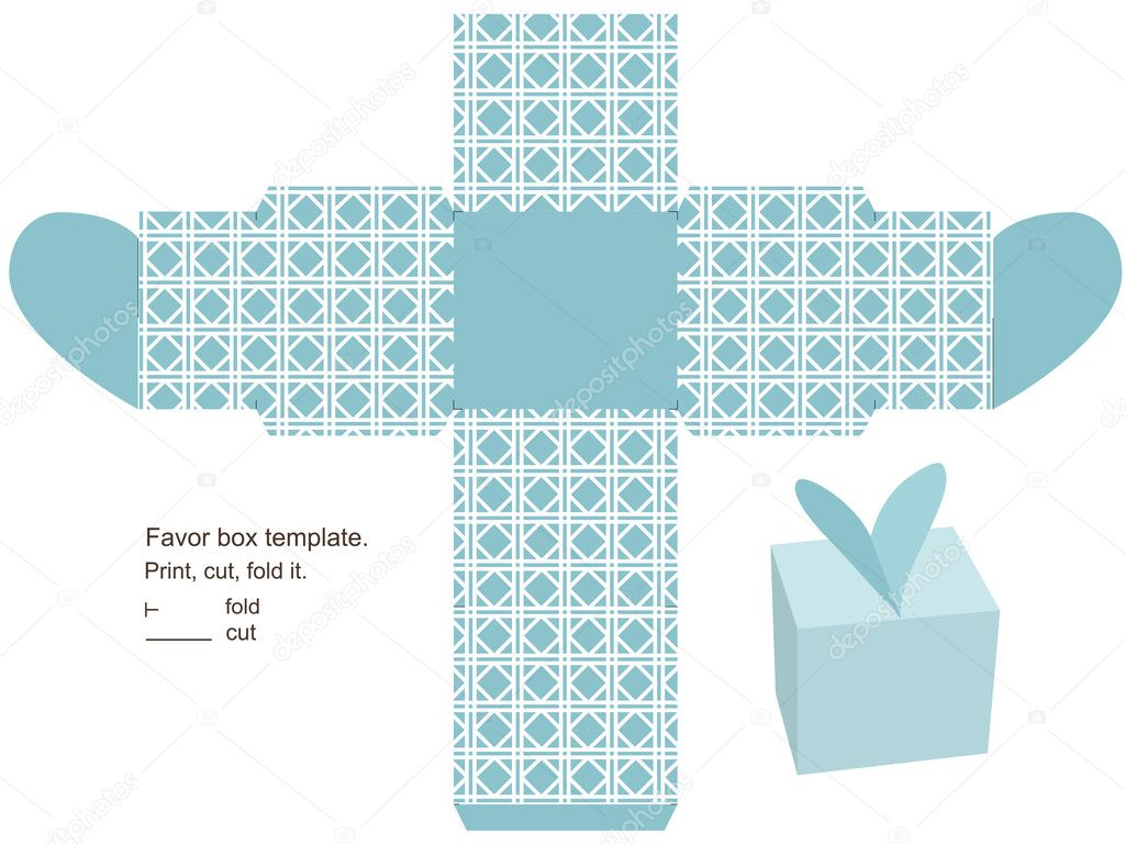 Gift box template Vector yaskii 12552727 – Template for Gift Box