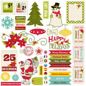 Christmas design elements. — Stock Vector