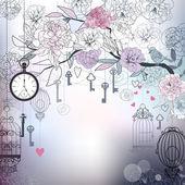 花卉背景 — 图库矢量图片