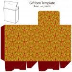 Gift box template — Stock Vector