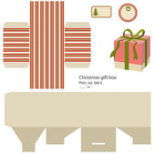 Gift box template. — Stockvector