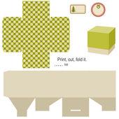Dárková krabice šablona — Stock vektor