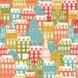 Paris Cityscape pattern — Stock Vector