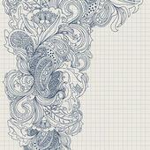 Carte floral. — Vecteur