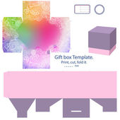 Gift box template — Stock Vector