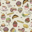 Royalty-Free Stock Vector Image: Cupcakes pattern